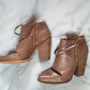 Joe's Jeans Gray Leather Ankle Boots 8.5